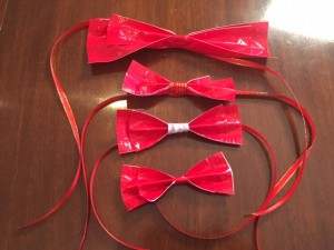 completed bow ties of different sizes and styles