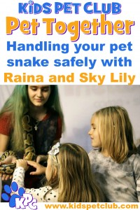 Handling your pet snake safely with raina and sky lily