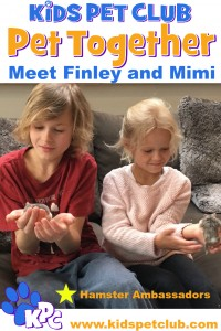 Mimi and Finley Hamster Ambassadors