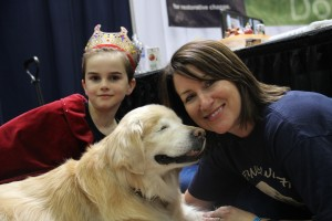 Smiley the Blind Therapy Dog and family