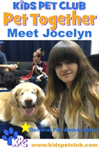 Meet Jocelyn, general Pet ambassador with Smiley The Blind Therapy Dog
