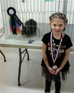 Avalie after her first junior exhibitor ring