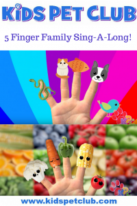 5 finger family dog song sing a long