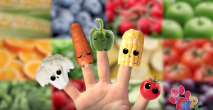 5 finger family veggie family