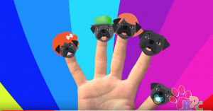 finger family sing a long pug family
