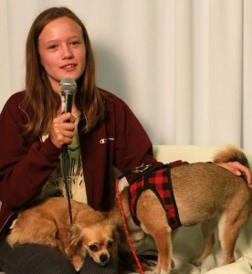 Jacqueline, Princess and Nyla from Kids' Pet Club at Fall Canadian Pet Expo