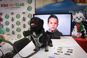 Kilo the Pug hosting Kids' Pet Club at the Christmas Pet Expo 2017 Day 2